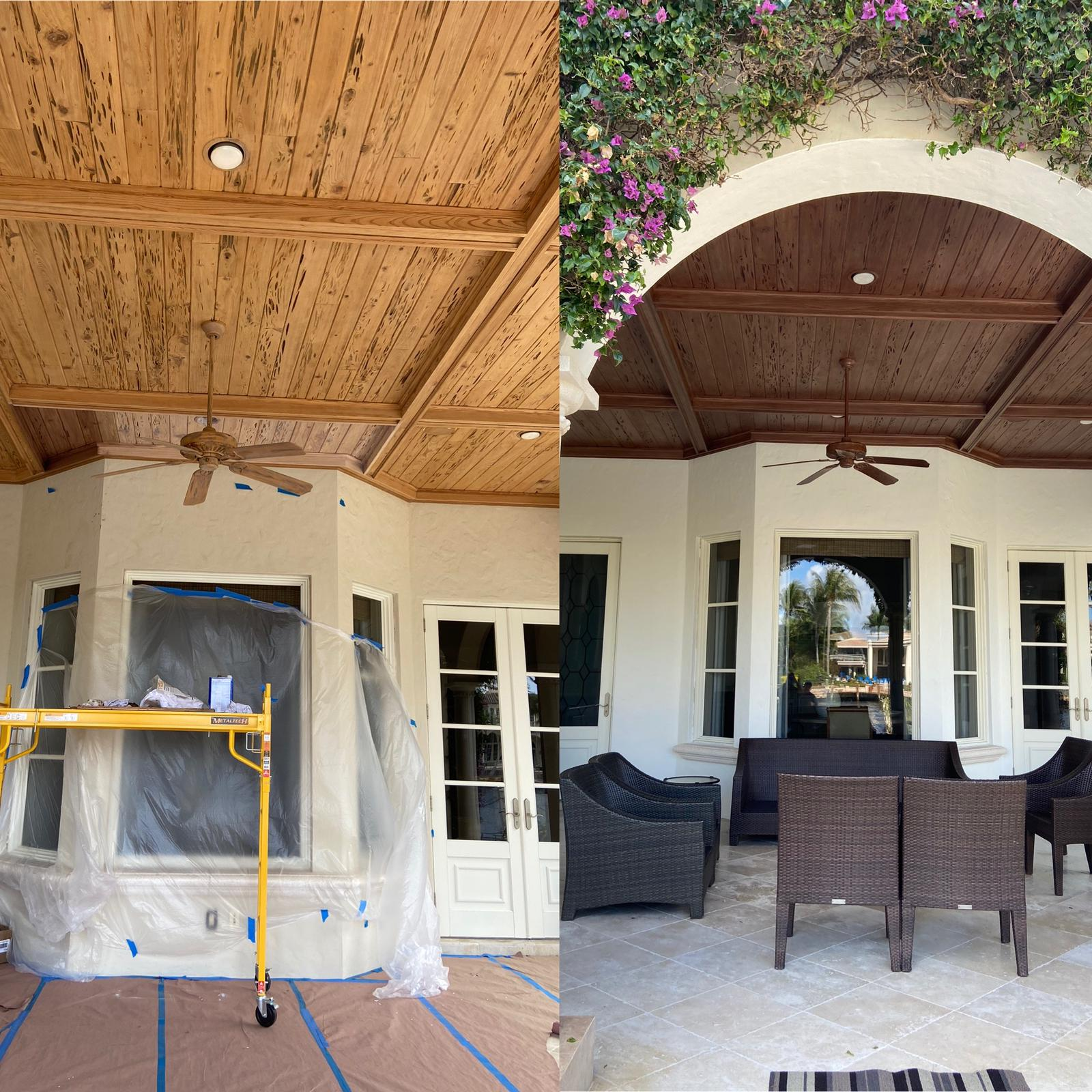 Before & After Patio Ceiling Refresh